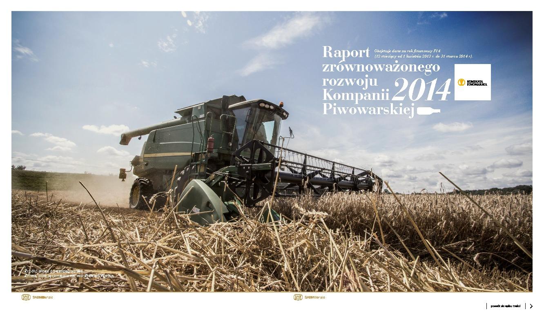Raport Zrównoważonego Rozwoju Kompanii Piwowarskiej 2014