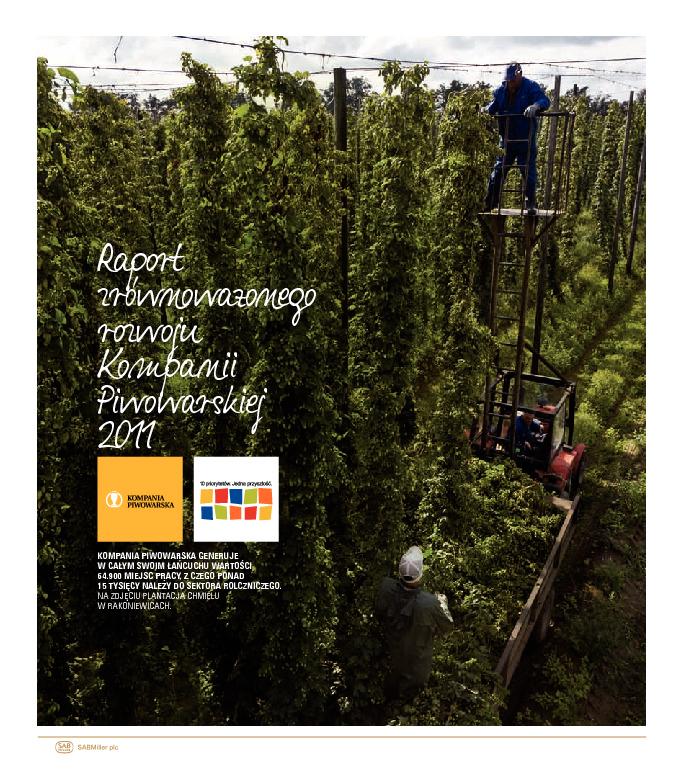 Raport Zrównoważonego Rozwoju Kompanii Piwowarskiej 2010