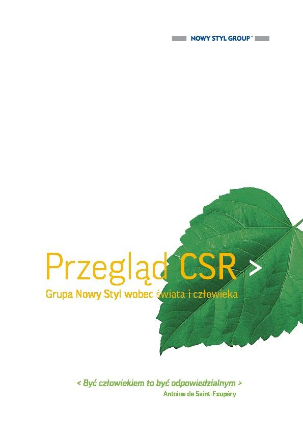 Przegląd CSR / Grupa Nowy Styl wobec świata i człowieka