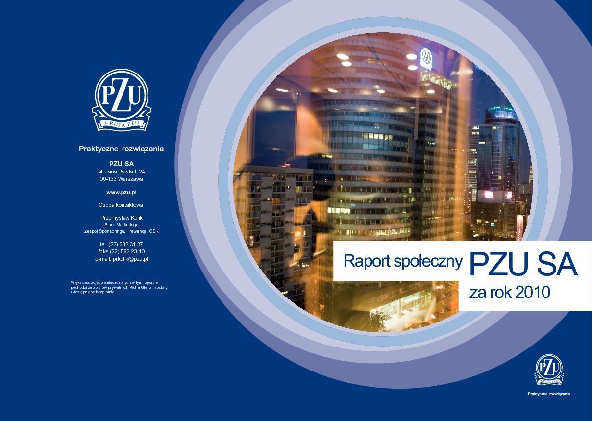 Raport społeczny PZU SA za rok 2010
