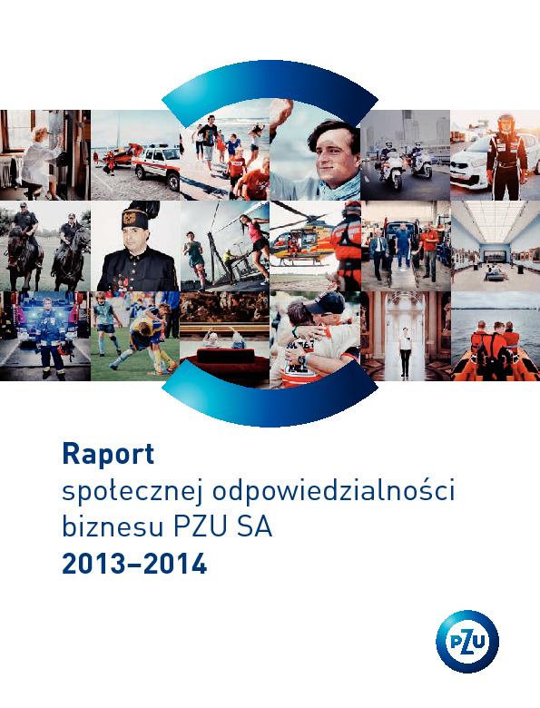 Raport Społecznej Odpowiedzialności Biznesu PZU SA 2013-2014