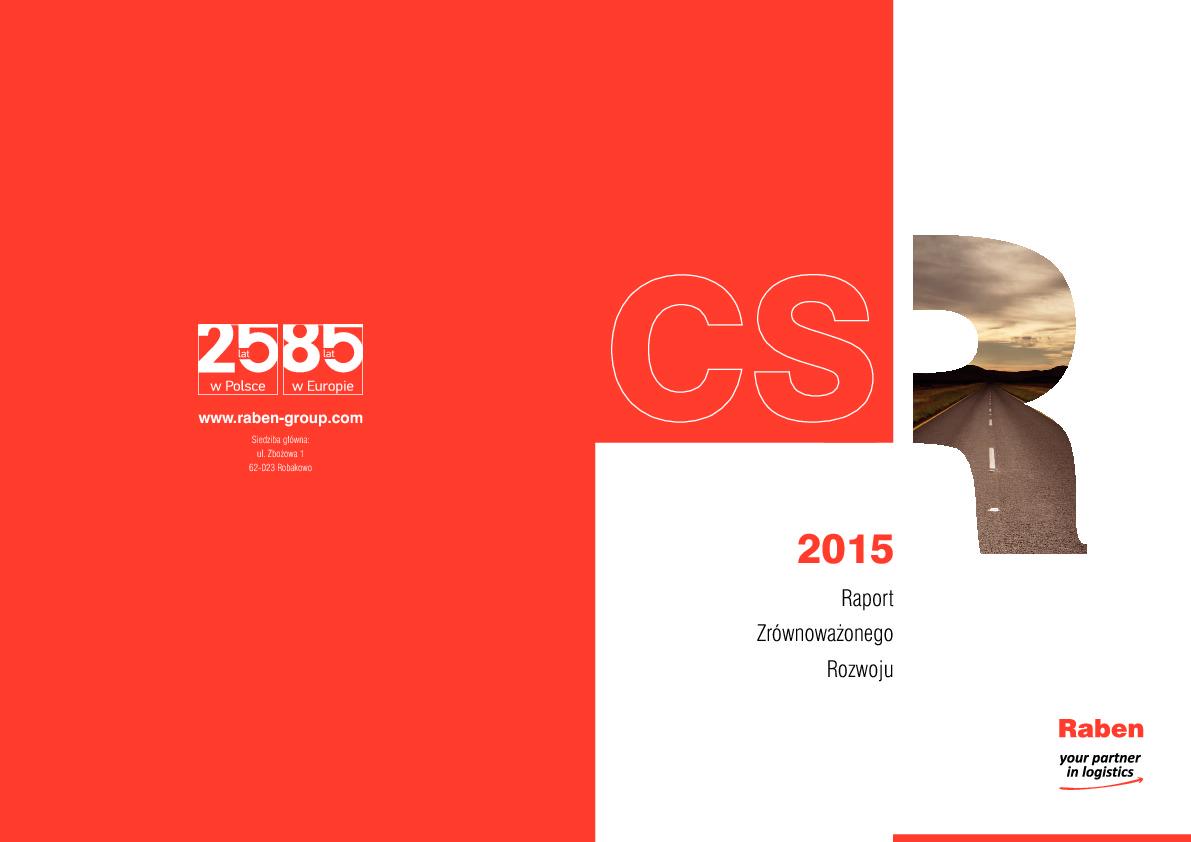 Raport Zrównoważonego Rozwoju 2015