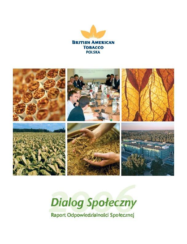 Dialog społeczny 2006 / Raport Odpowiedzialności Społecznej
