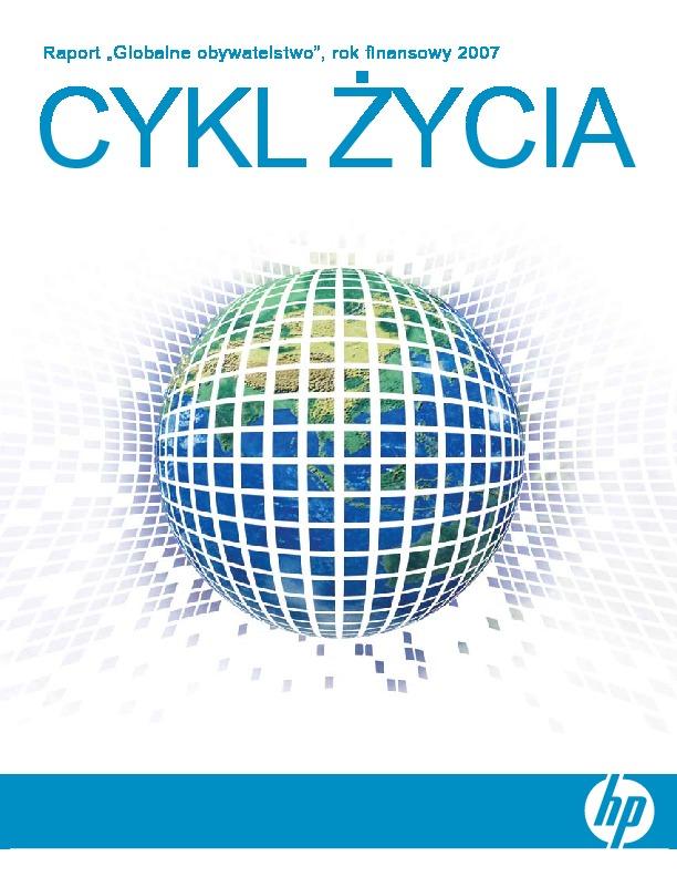 """Raport """"Globalne obywatelstwo"""", rok finansowy 2007"""